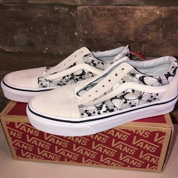 New old skool vans butterfly vans shoes women 5.5